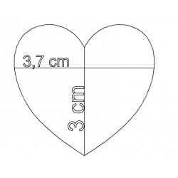 étiquette coeur avec motif