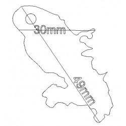 étiquette dragées carte Martinique