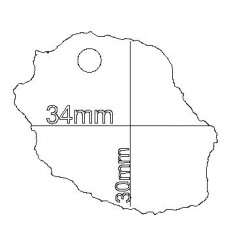 étiquette dragées carte Réunion