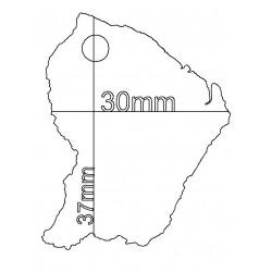 étiquette dragées carte Guyane