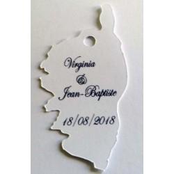 étiquette dragées carte Corse