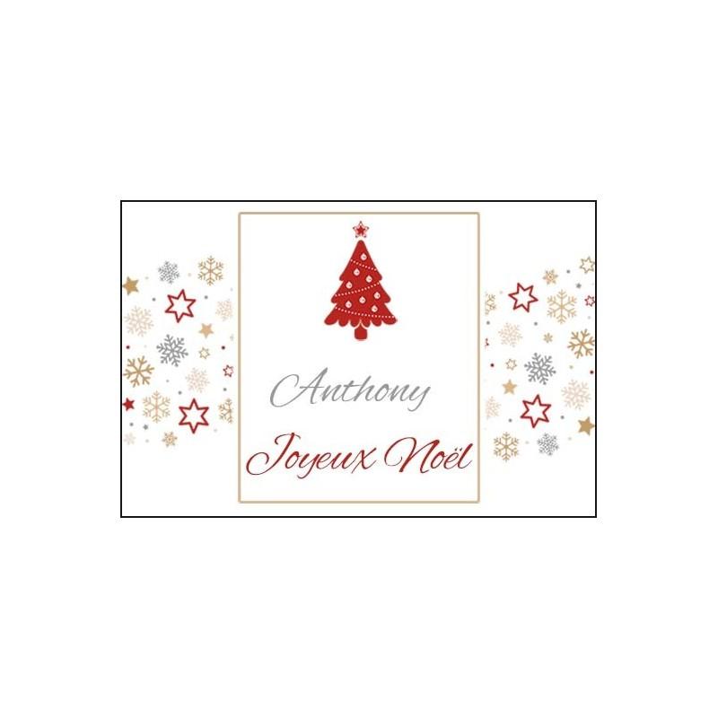 Carte pour cadeau de noël