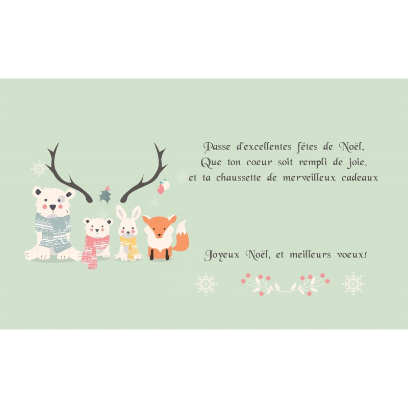 Carte de voeux petits animaux