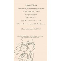 Faire Part mariage couple amoureux