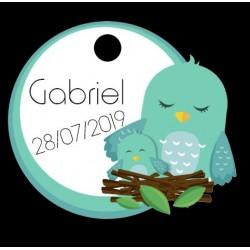 étiquette dragées petits oiseaux