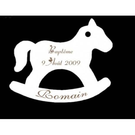 étiquette dragées cheval