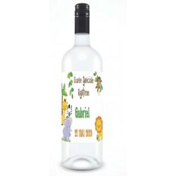 etiquette pour bouteille thème jungle