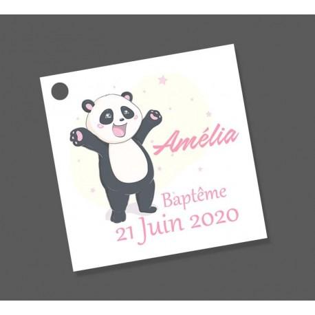 étiquettes dragées panda