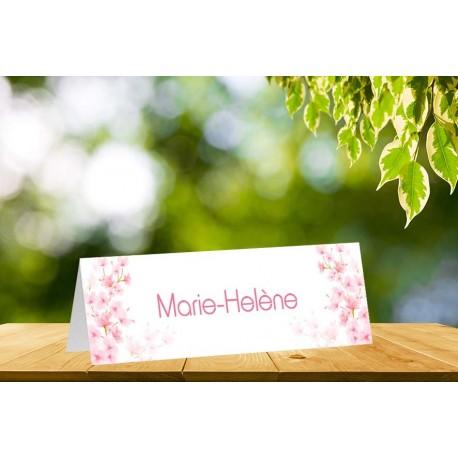 Marque place chevalet fleurs de cerisier