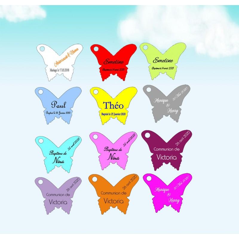 Etiquettes à dragées papillons V2
