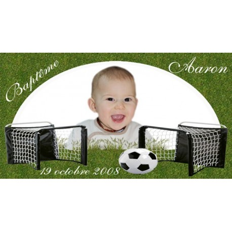 étiquette dragées football ballon