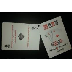 Menu eventail Carte de Poker
