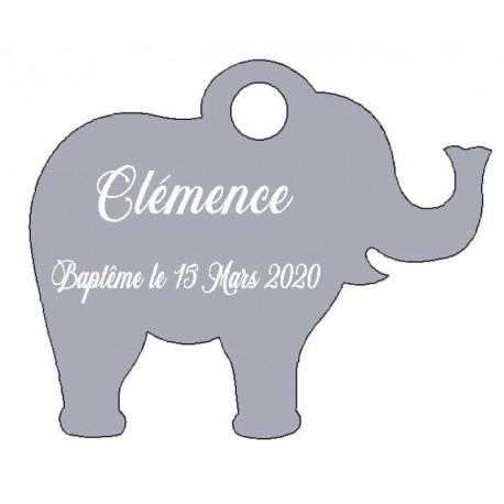 étiquettes dragées éléphant