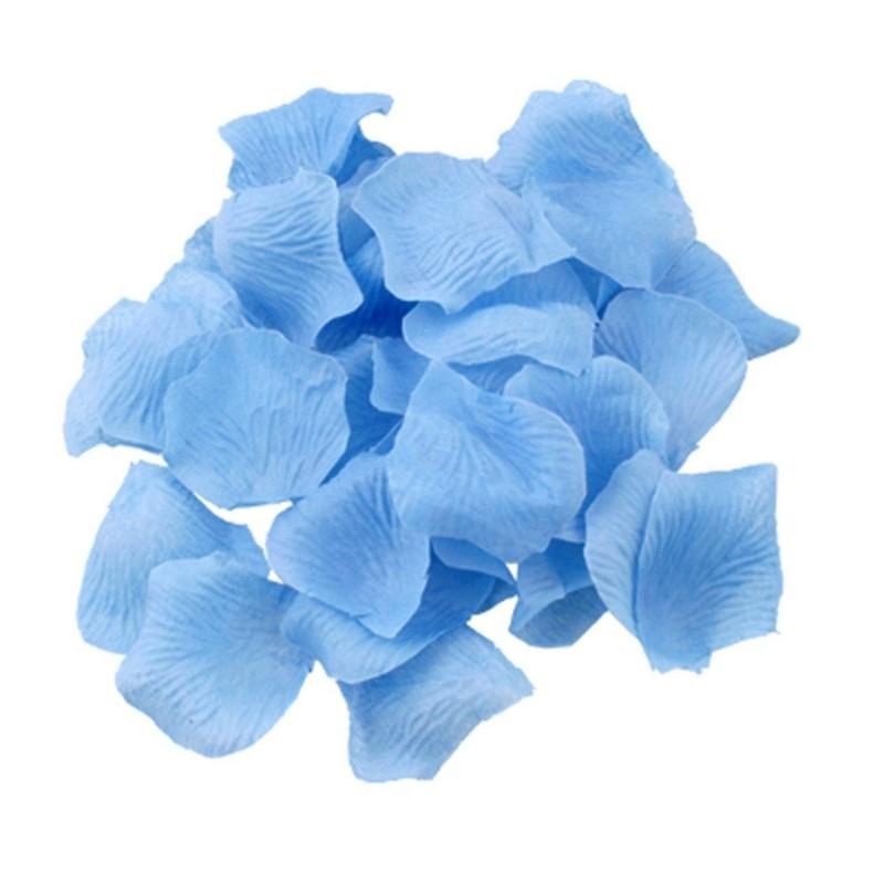 Pétales de roses en soie Bleu lot de 200