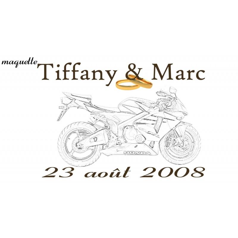 étiquette dragées moto