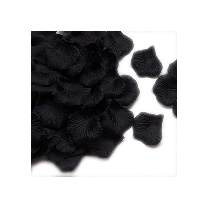 Pétales de roses en soie Noir lot de 200