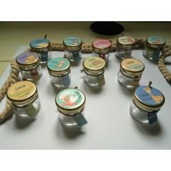 Lot de 12 pots dragées verre personnalisés Les Animaux Mignons