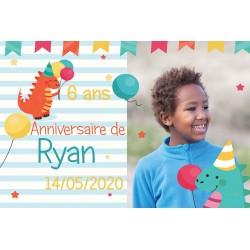 invitation anniversaire Sirène