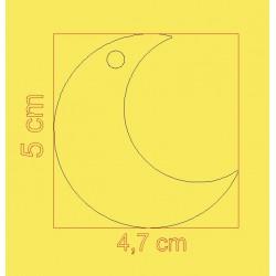étiquette dragées forme lune