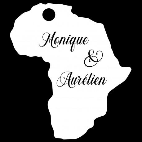 étiquette dragées carte Afrique