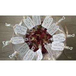 10 tubes à bulles pour mariage avec étiquettes personnalisée