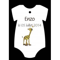 étiquette forme body girafe