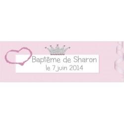 étiquette dragées princesse