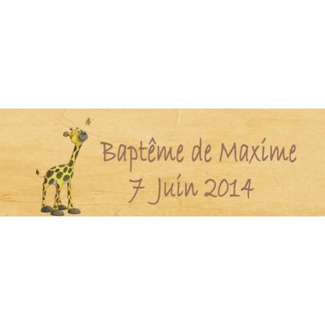 étiquette dragées girafe