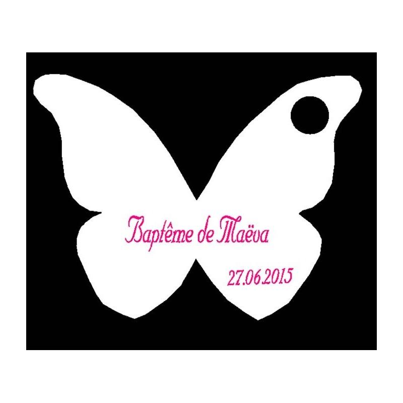 étiquette dragées papillon blanc