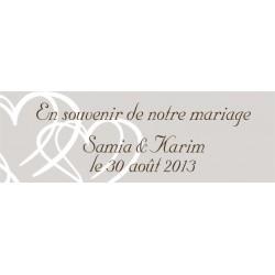 étiquette pour dragée mariage