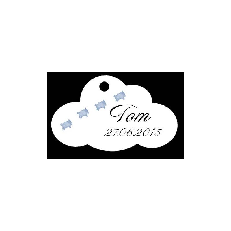 étiquettes à dragées Nuage motif mouton