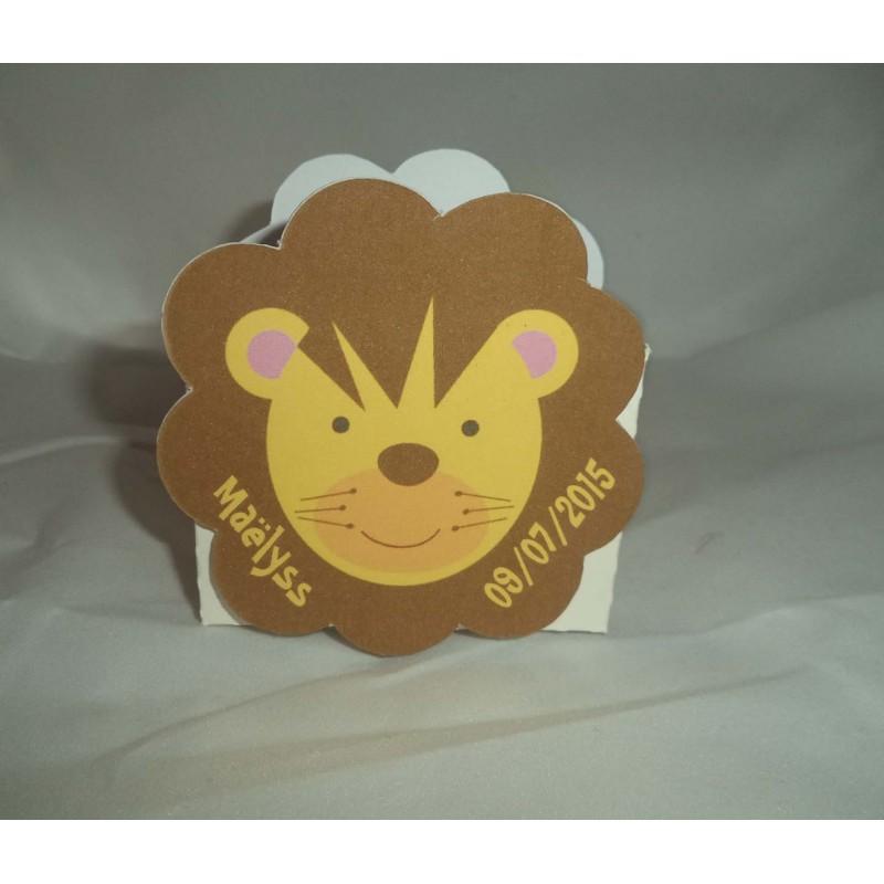 boite dragées lion