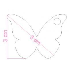 étiquette dragées papillon bleu