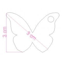 étiquette dragées papillon vert anis