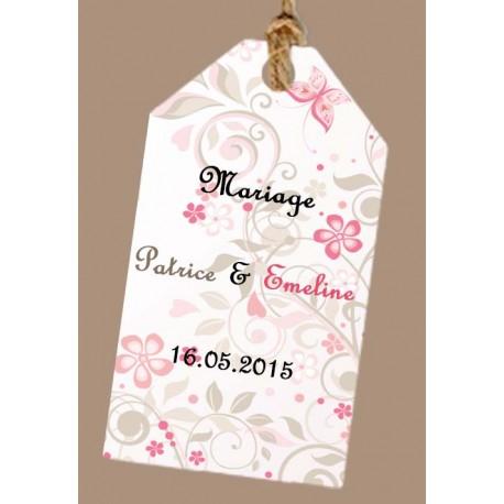 étiquette dragées mariage