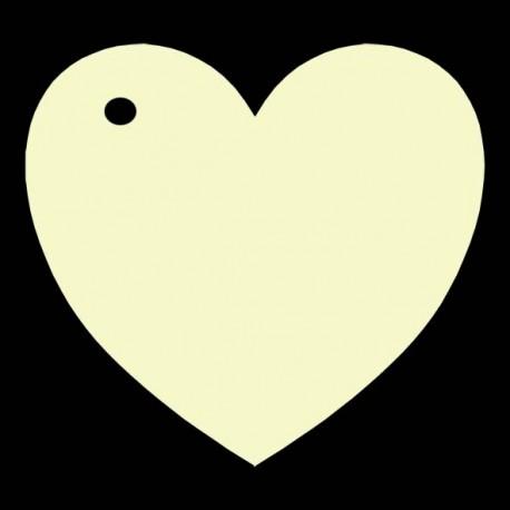 étiquette dragées coeur ivoire