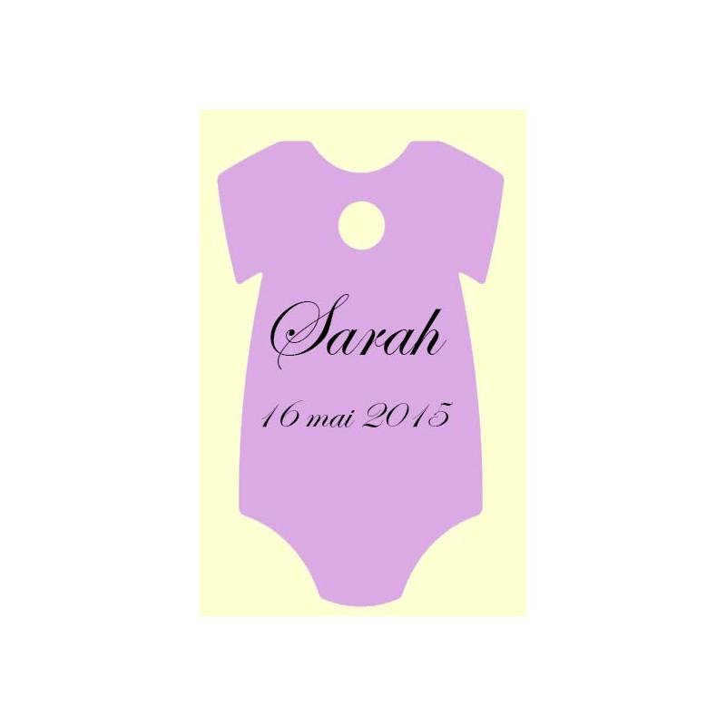 étiquette forme body lilas