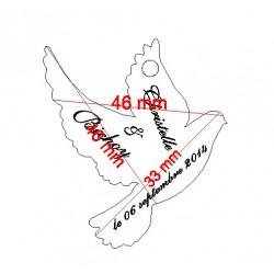étiquette dragées colombe