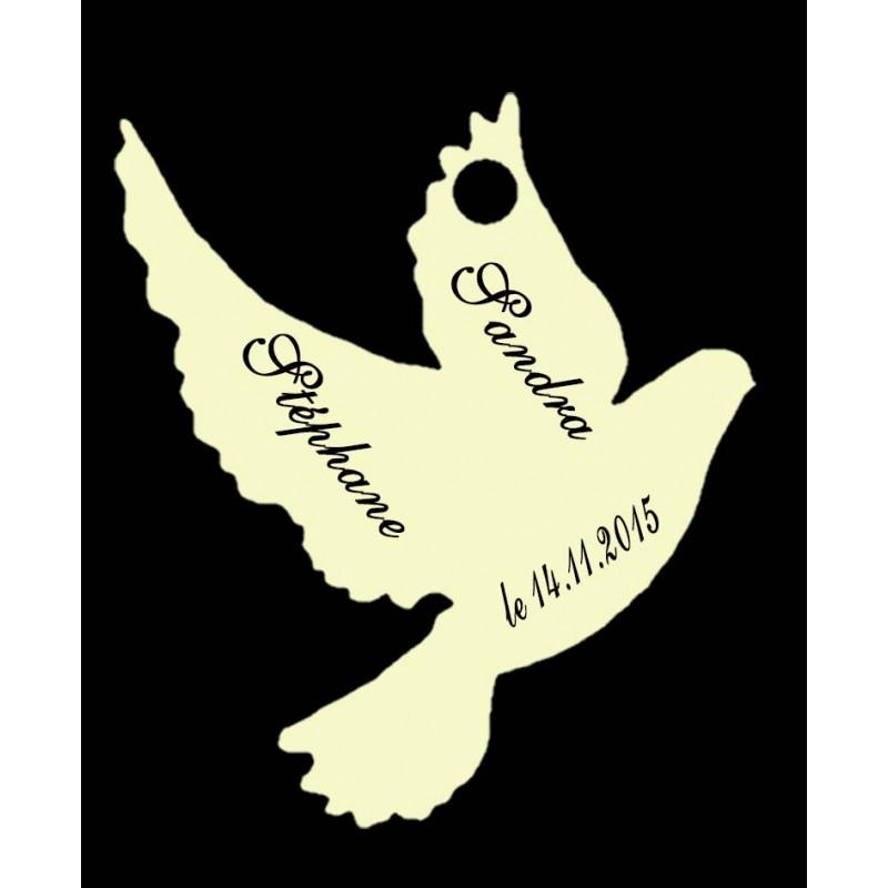 étiquettes dragées colombe ivoire