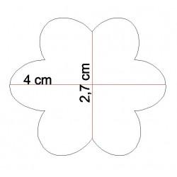 étiquettes dragées fleur taille