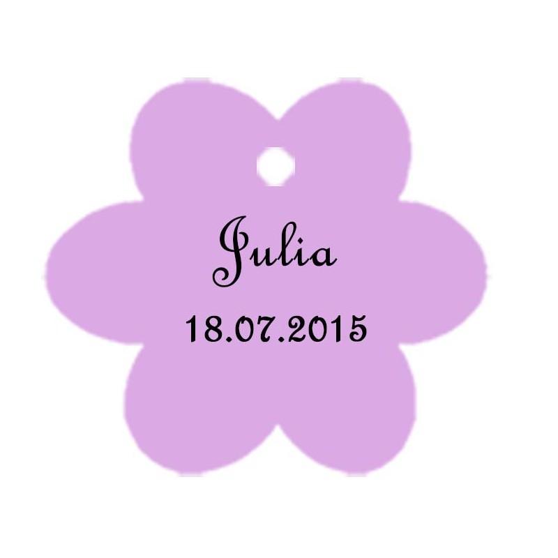 étiquettes dragées fleur lilas