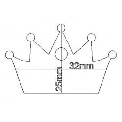 étiquette dragées couronne fushia