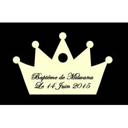 étiquette dragées couronne ivoire