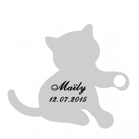 étiquette dragées chaton gris