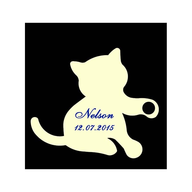 étiquette dragées chaton ivoire