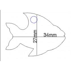 étiquette dragées poisson blanc