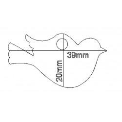 étiquette dragées oiseau blanc