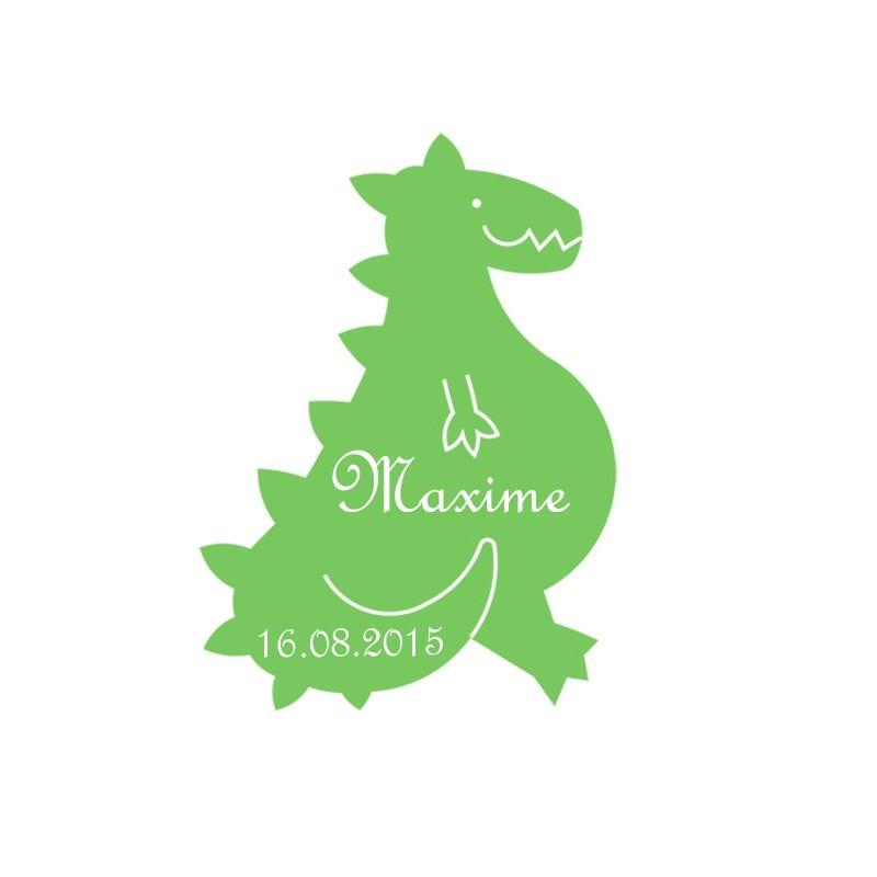 étiquette dragées forme dinosaure