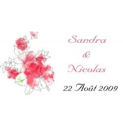 étiquette dragées hibiscus