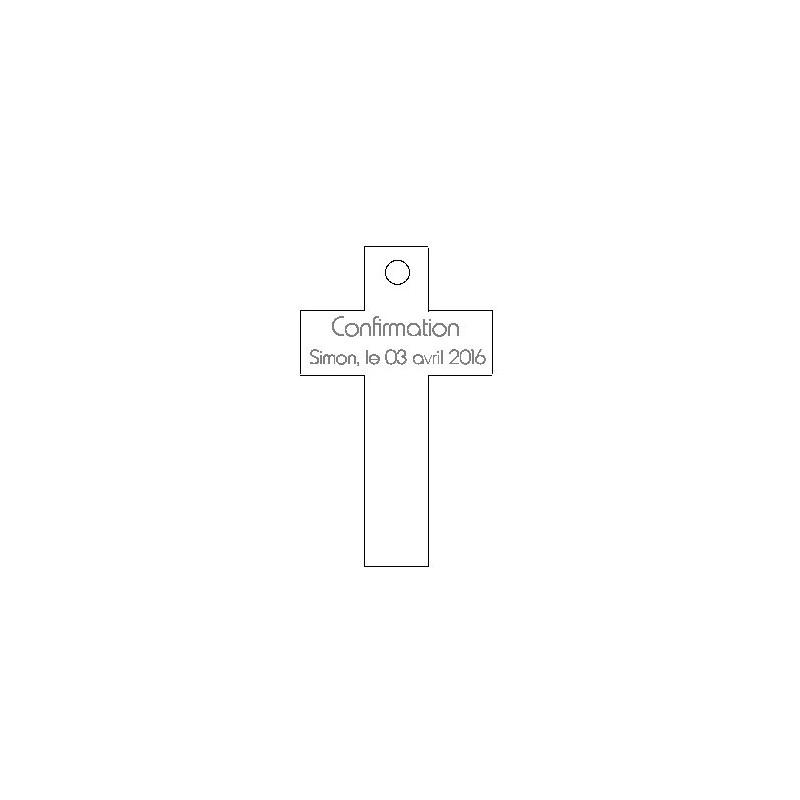 étiquette dragées forme croix